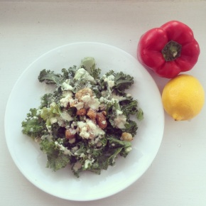 Recipe: Kale Caesar Salad + Dressing