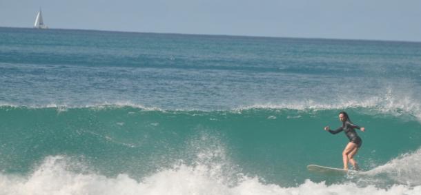 Cheryl surfing March 2014