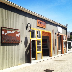 Sawyer Land & Sea Supply Storefront: Industrial Re-Use Exterior