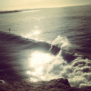 Steamer Lane: On an epic spring day