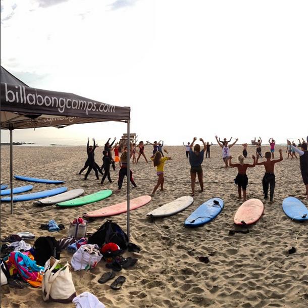 Hammer Surf Camp at Spring Lake.