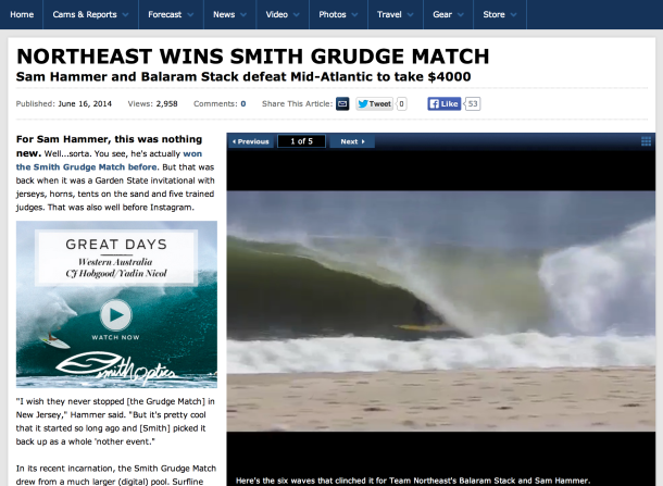 Screen Shot 2014-06-17 at 8.31.26 AM Sam wins Surfline.com's Smith Grudge Match over some of the best Northeast perfect green wave in winter 2013-2014. http://www.surfline.com/surf-news/northeast-wins-smith-grudge-match_110595/