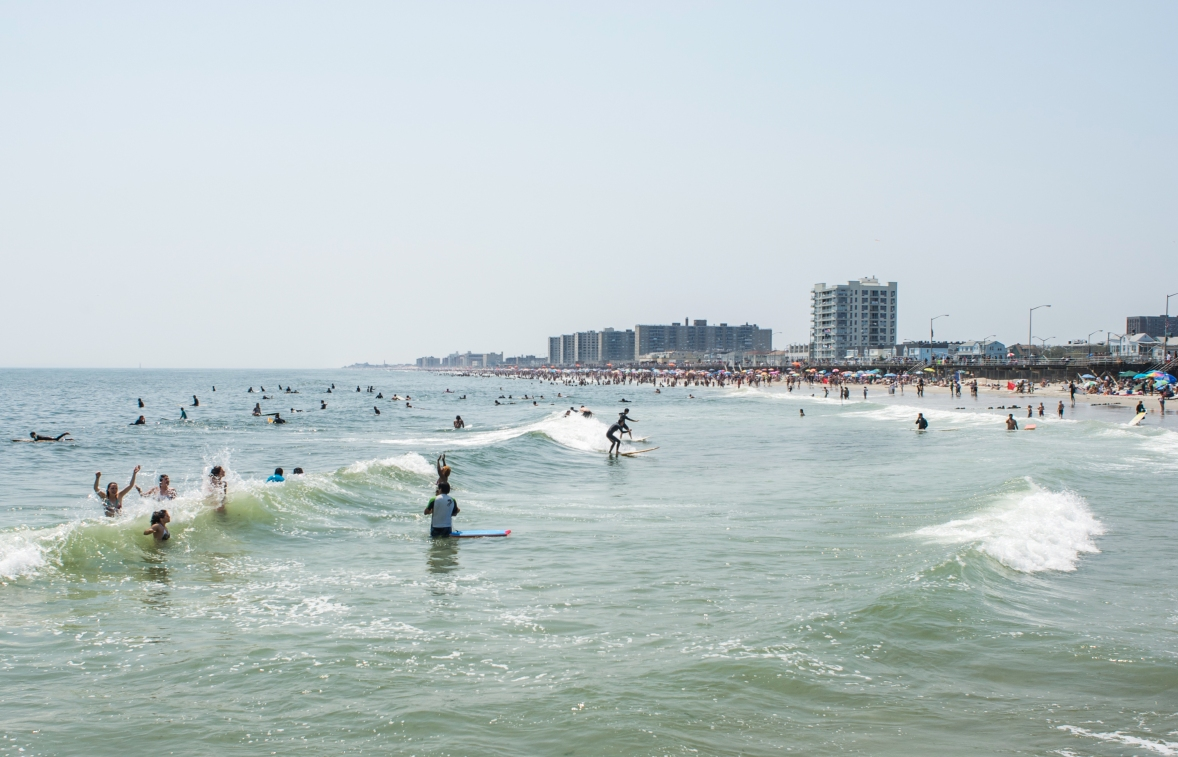 Learn to Surf at Rockaway Beach, NY Photo: Andreea Waters