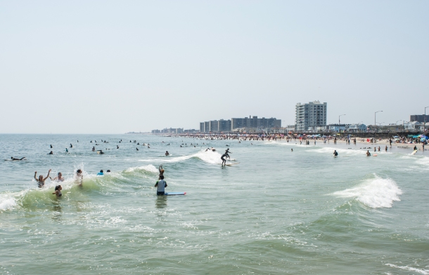 Learn to Surf at Rockaway Beach, NY Photo: Andreea Waters